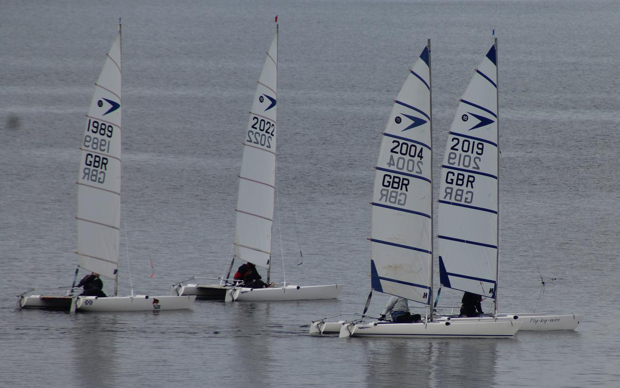 Close racing at Grafham 25 March